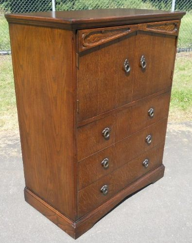 Dark Oak Tallboy Chest Cupboard